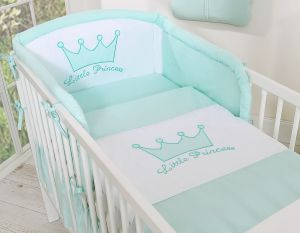 Bedding set 2-pcs- Little Prince/Princess mint