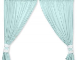 Curtains for baby room- Little Prince/Princess mint