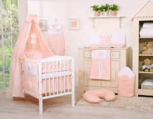 Bedding set 11pcs with canopy- Little Prince/Princess pink