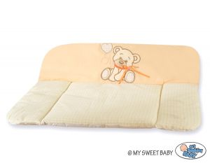 Soft changing mat- Bear with bow peach