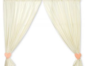 Curtains for baby room- Bear with bow peach