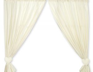 Curtains for baby room- Bear with bow cream