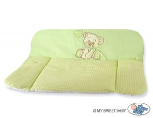 Soft changing mat- Bear with bow green