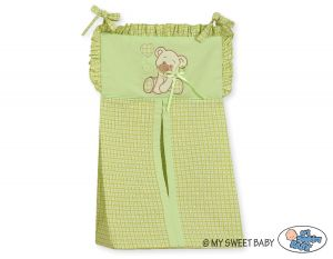Diaper bag- Bear with bow green