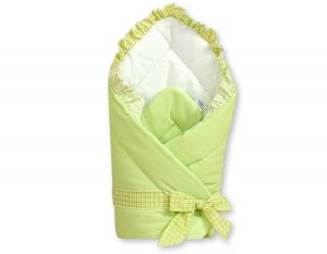 Baby nest with stiffening- Bear with bow green