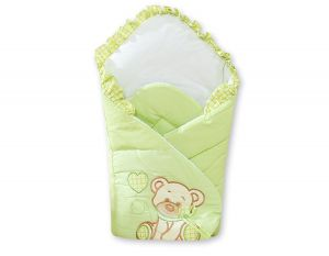 Baby nest with stiffening- Bear with bow peach