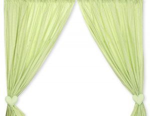 Curtains for baby room- Bear with bow green