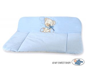 Soft changing mat- Bear with bow blue