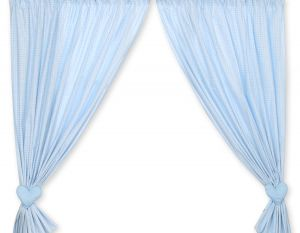 Curtains for baby room- Bear with bow blue