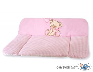 Soft changing mat- Bear with bow pink