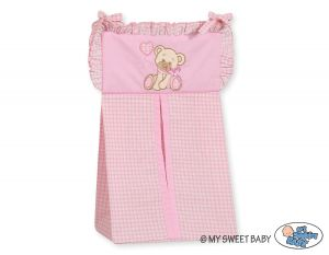 Diaper bag- Bear with bow pink