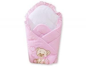 Baby nest - Bear with bow pink