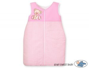 Sleeping bag- Bear with bow pink