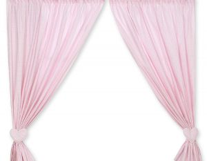 Curtains for baby room- Bear with bow pink