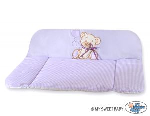 Soft changing mat- Bear with bow lilac