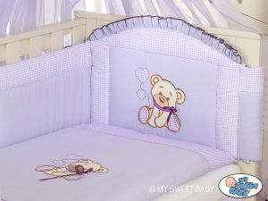 Bedding set 3-pcs- Teddy Bear with bow lilac