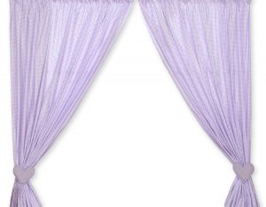 Curtains for baby room- Bear with bow lilac