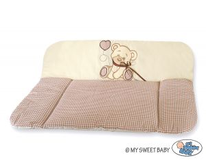 Soft changing mat- Bear with bow brown
