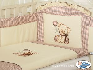 Bedding set 3-pcs- Teddy Bear with bow brown