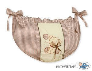 Toys bag- Teddy bear with bow brown