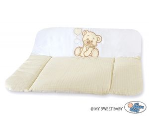 Soft changing mat- Bear with bow white