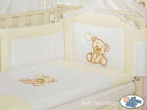 Bedding set 3-pcs- Teddy Bear with bow white