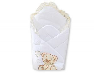Baby nest with stiffening- Bear with bow white
