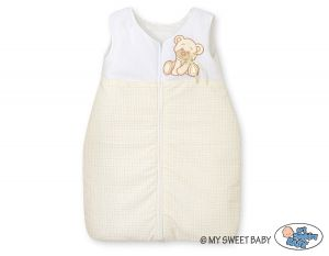 Sleeping bag- Bear with bow white