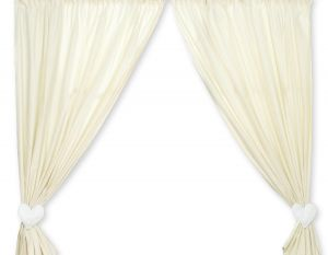 Curtains for baby room- Bear with bow white