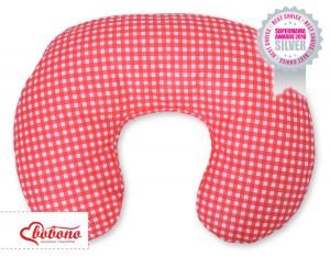Feeding pillow- Red checkered