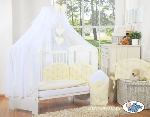 Bedding set 5-pcs with mosquito-net- Chic cream