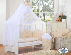 Bedding set 5-pcs with mosquito-net- Chic beige