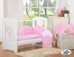 Bedding set 3-pcs- Chic light pink