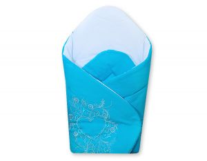 Babynest with stiffening - Chic turquoise