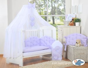 Bedding set 5-pcs with mosquito-net- Chic lilac