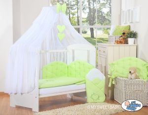 Bedding set 5-pcs with mosquito-net- Chic green