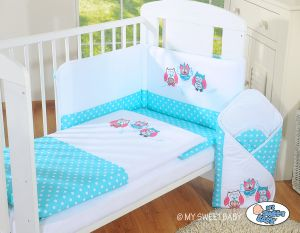 Bedding set 3-pcs- Owls Bigi Zibi & Adele turquoise