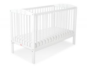 Baby cot 120x60cm with stars no. 5002-07- white