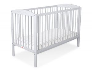 Baby cot 120x60cm with hearts no. 5003-06- grey