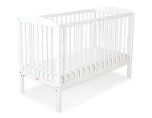 Baby cot 120x60cm with hearts no. 5003-07- white
