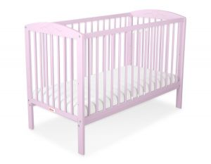 Baby cot 120x60cm with hearts no. 5003-08- pink