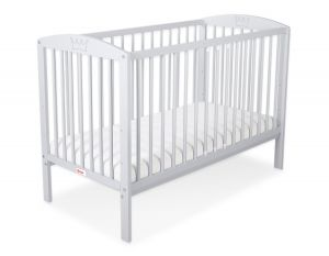 Baby cot 120x60cm with crown no. 5006-06- grey