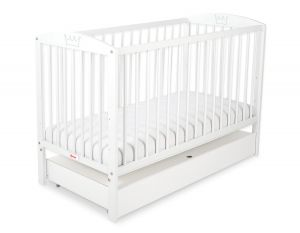 Baby cot 120x60cm with crown with drawer STANDARD