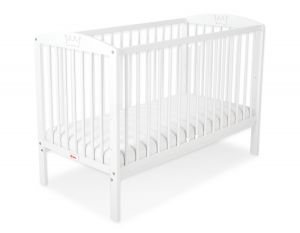 Baby cot 120x60cm with crown no. 5006-07- white