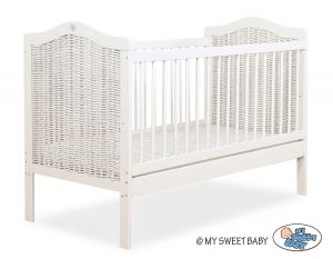 Wicker Baby cot 120x60cm no. 5007-07