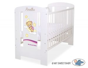 Engrave on the front of baby cot no 5009-07