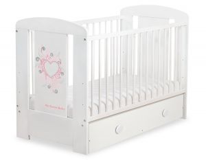 Baby cot 120x60cm Chic with drawer MAXI