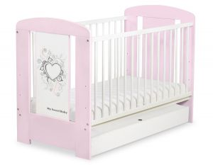 Baby cot 120x60cm Chic with drawer STANDARD