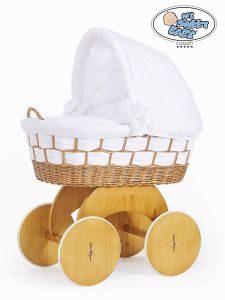 Moses Basket/Wicker crib with hood Bianca no. 50102-911*