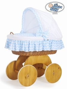 Moses Basket/Wicker crib with hood Hannah no. 50102-900*
